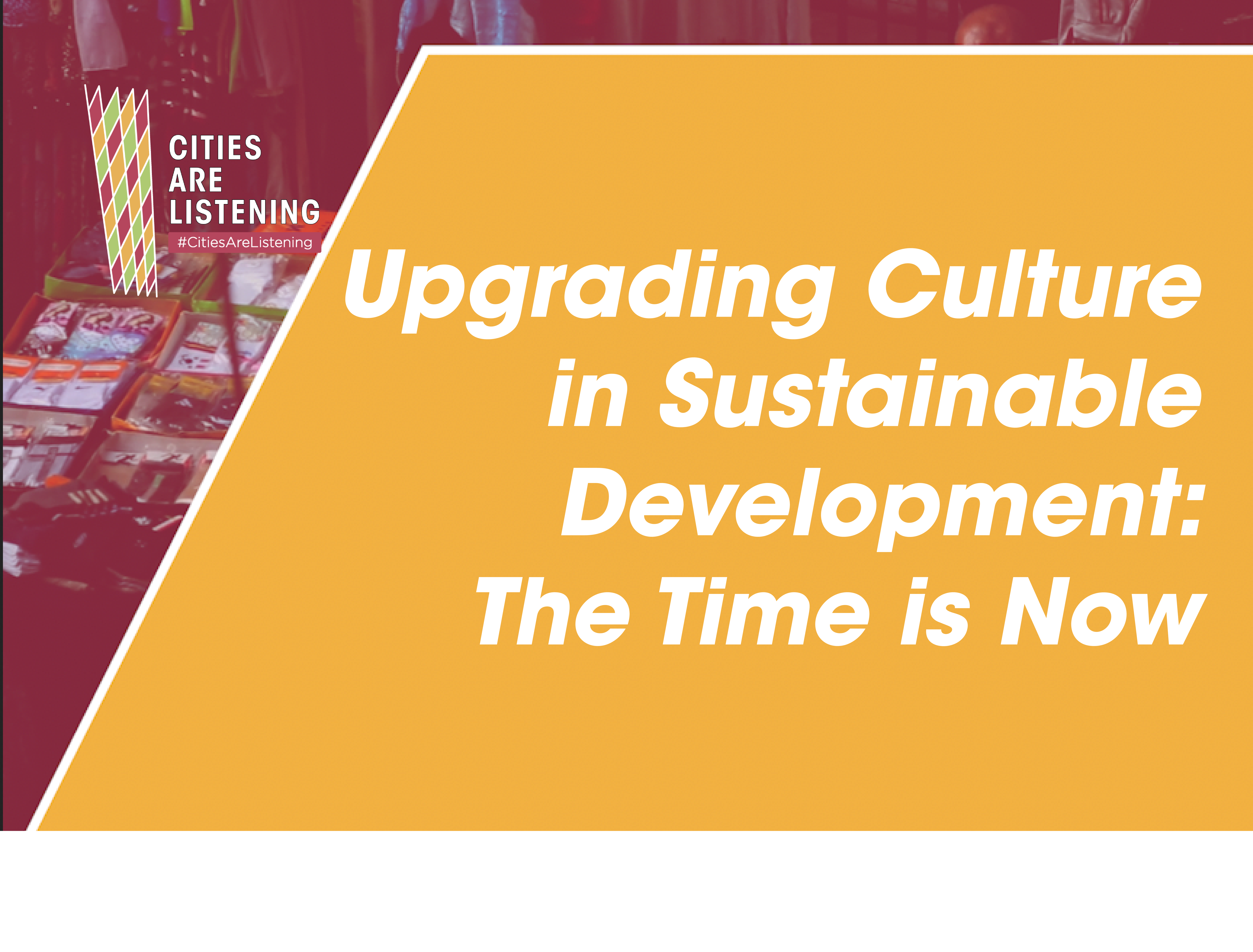 The time has come for culture to have a real place at the table of decision-making on the Future of Humanity