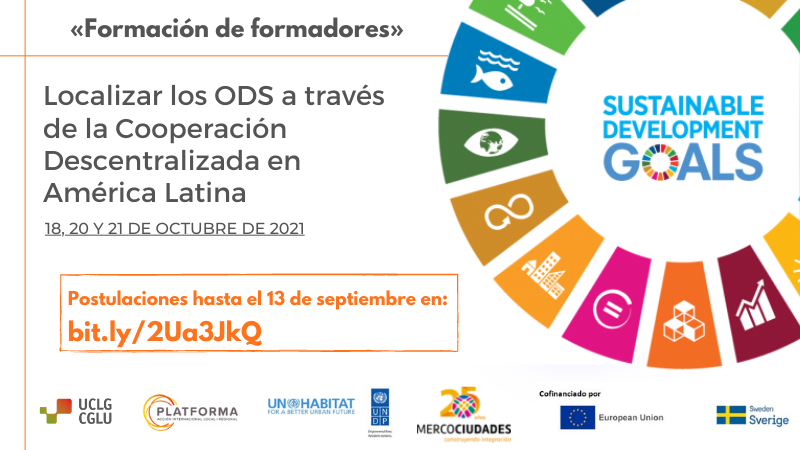 Registration for training on SDGs and Decentralized Cooperation in Latin America is now open.